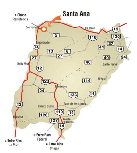 Mapa de Corrientes