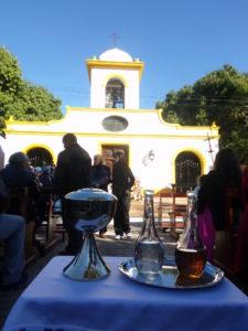 La celebración religiosa central se realizó en el atrio del Templo, Monumento Histórico Nacional