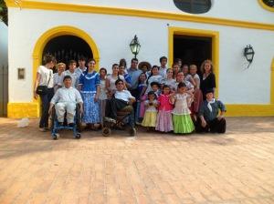 El ballet recibido en Santa Ana de los Guácaras por el intendente Augusto Navarrete