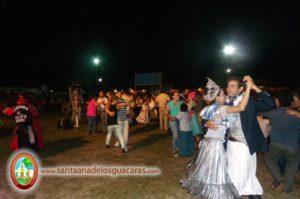 La Reina Nacional del Chamamé y el Jeroky Yára bailaron junto a la comunidad de Santa Ana
