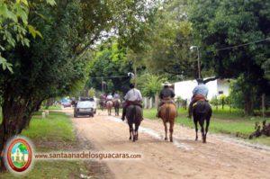 Santa Ana rumbo a reencontrarse con San Cosme y Paso de la Patria para peregrinar juntos a Itatí