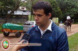 Intendente Augusto Navarrete peregrinando a Itatí, junto a la comunidad de Santa Ana