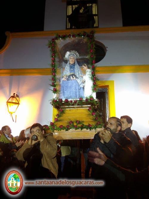 Tradicional saludo de Santa Ana a su pueblo