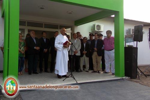 Bendición a cargo del diácono Félix Gómez