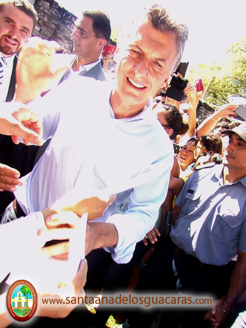 Presidente Mauricio Macri en Santa Ana de los Guácaras