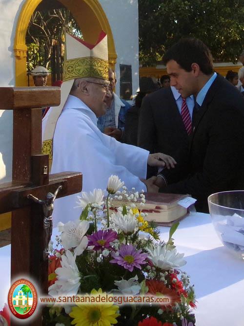 Intendente Augusto Navarrete y monseñor emérito Domingo Salvador Castagna