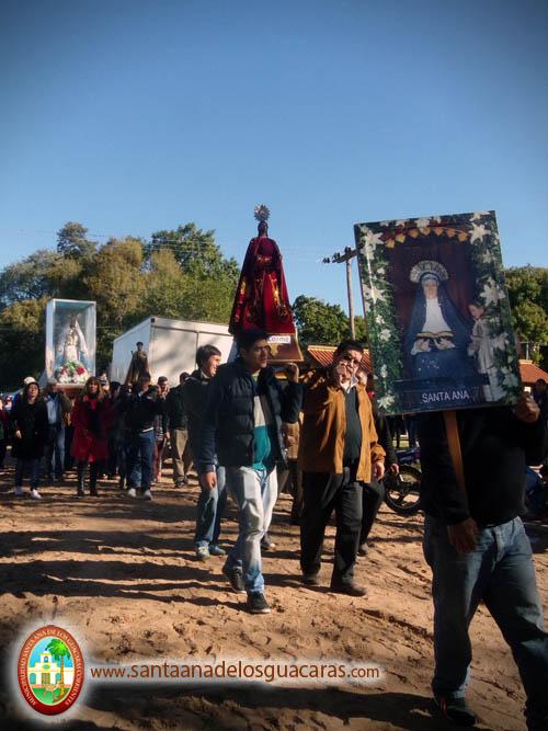 Visita de comunidades con sus imágenes religiosas
