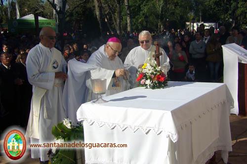 Monseñor emérito Domingo Castagna celebró la Misa Central