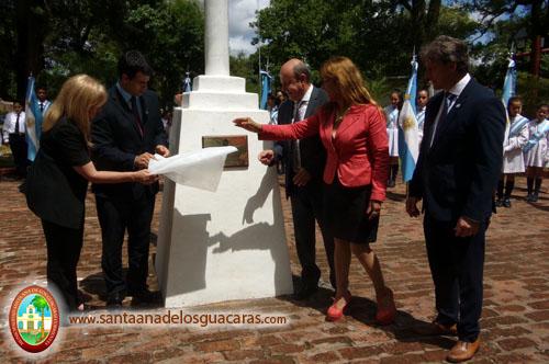 Descubrimiento de Placa, en Plaza General San Martín