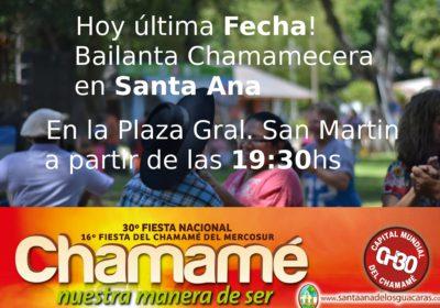 banner bailanta chamamecera en santa ana de los guacaras