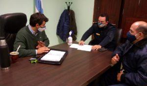foto de reunión intendente augusto navarrete con autoridades policiales